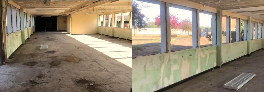 école alternative dans le nord, photographie de la future salle de classe